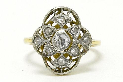 Albuquerque antique filigree Edwardian diamond engagement ring
