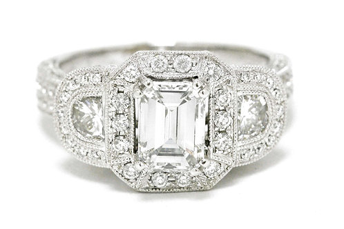 A Los Angeles modern engagement ring.