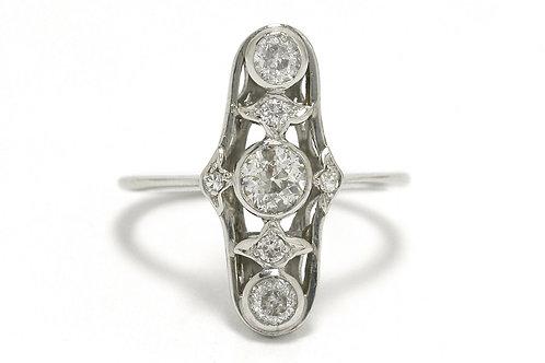 Wedding Ring Navette Diamond