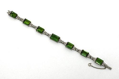 Bracelet Emerald Cut Tourmaline
