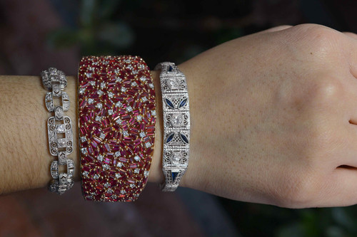 6e9ca7b46d0 large ruby rose gold cuff rubies diamonds modernist bracelet