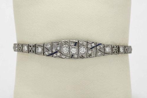 geometric Art Deco platinum bracelet