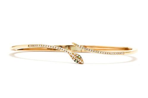 Cleopatra rose gold diamond snake bracelet