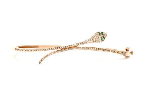 Hinged snake bangle bracelet.