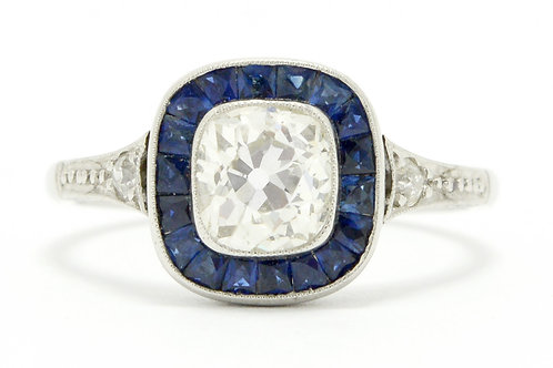 Oakland antique 1 carat cushion cut diamond engagement ring