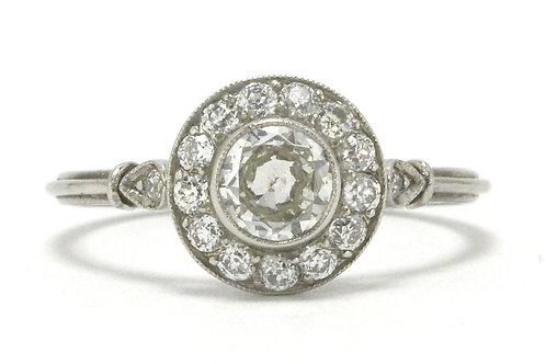 Arroyo Grande Art Deco old European diamond engagement ring