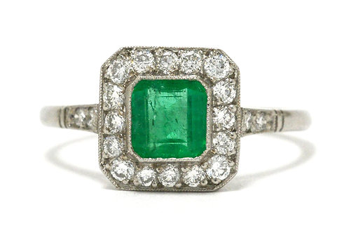 A vivid grass green natural Colombian emerald