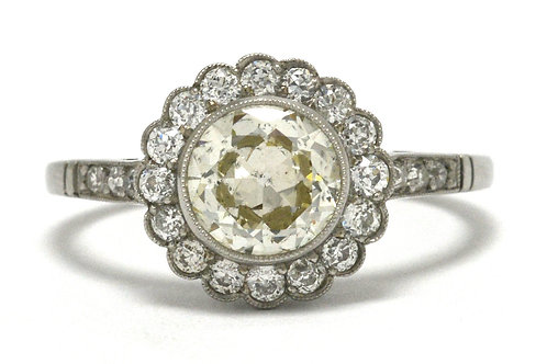 Bella Rosa Galleries design is this old euro diamond engagement ring