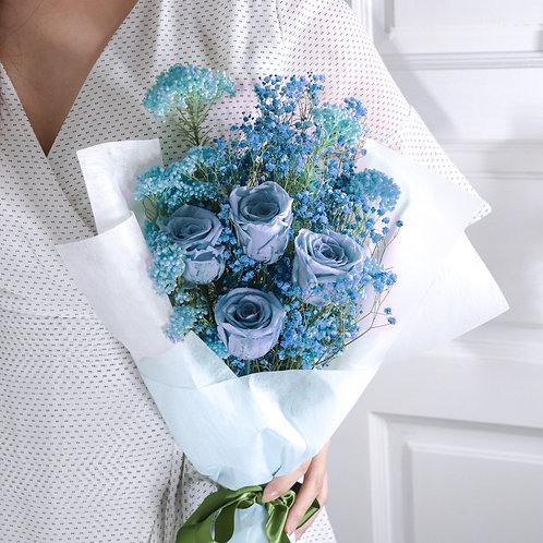 Forest Flowers In Blue
