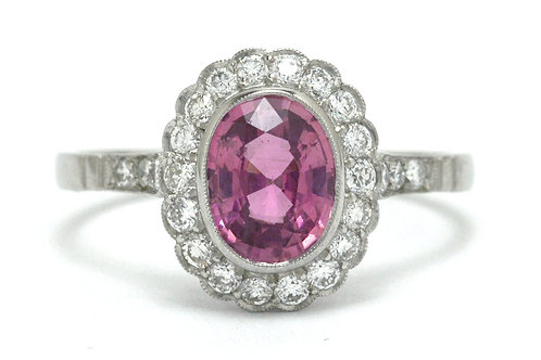 The Boston pink sapphire engagement ring