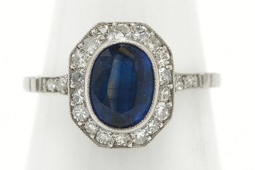 Jackson Art Deco sapphire engagement ring