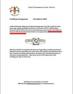 Santa Barbara jewelry appraisal