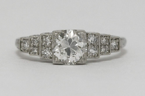 An Art Deco diamond engagement ring