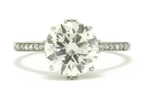 Richardson 2 carat diamond solitaire engagement ring