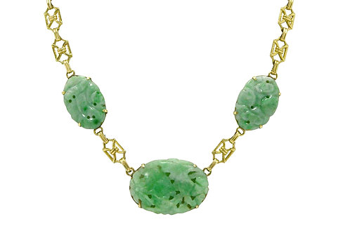 Jade drop necklace natural jadeite