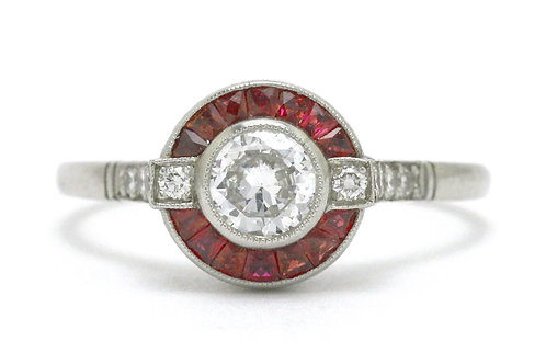 Carmel diamond ruby engagement ring