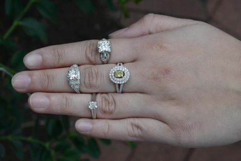 7ed1c04f6 Lucida Radiant Diamond Ring Platinum; Diamond Platinum Wedding Rings; Low  Rise Platinum Diamond Solitaire ...