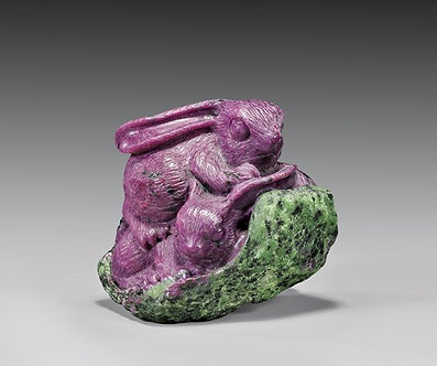 Zoisite Hare Rabbit Carving