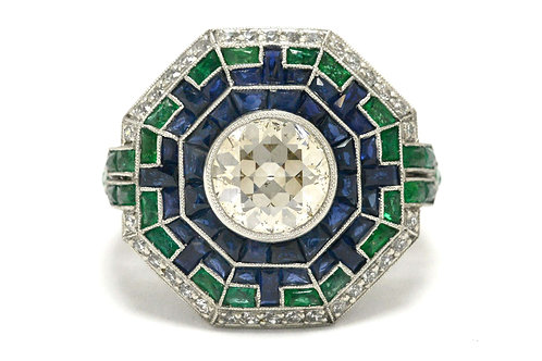 The Costa Mesa old European diamond cocktail ring