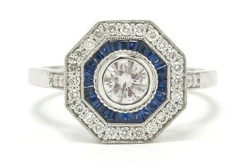 Juneau Art Deco style diamond engagement ring