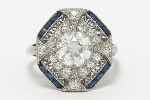 Old European brilliant diamond rings