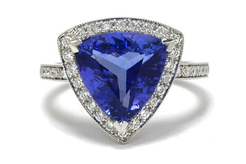 Triangle Tanzanite Ring
