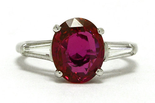 A regal ruby engagement ring that is GIA certified