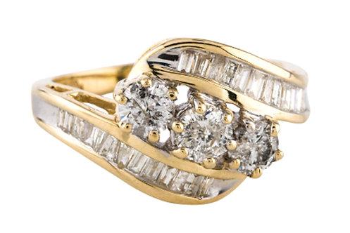 Waterfall diamond cocktail ring