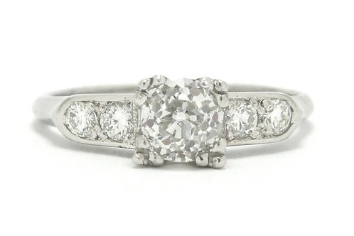 Plymouth Art Deco diamond solitaire engagement ring
