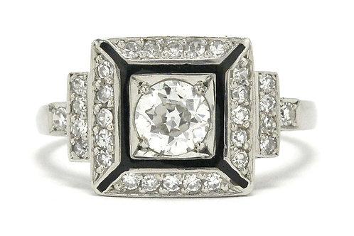 Chicago Art Deco engagement ring