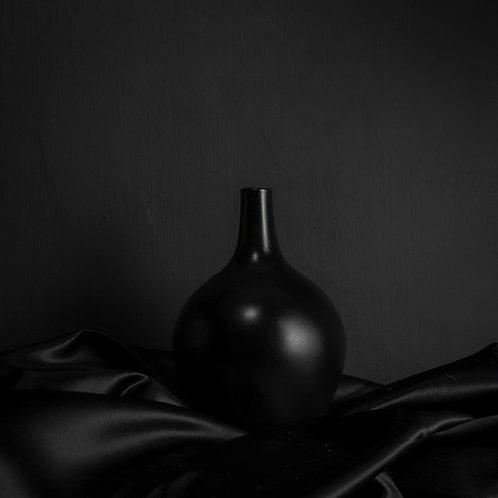 Black Decorative Glass Vase