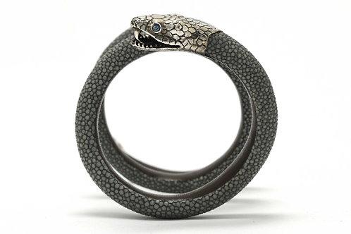 Silver snake arm cuff bracelet