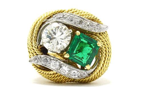 A designer ring made by David Webb