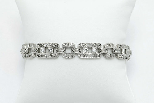 The Huntington Art Deco filigree diamond bracelet