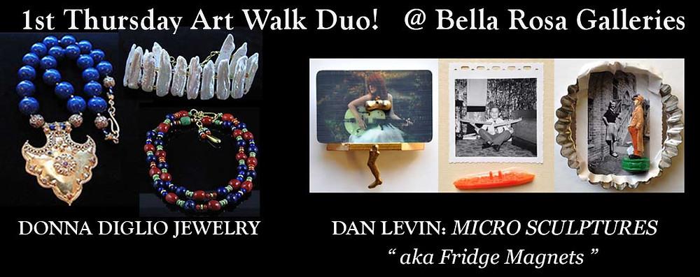 Donna Diglio, Dan Levin, art walk, santa barbara, art gallery, jewelry store
