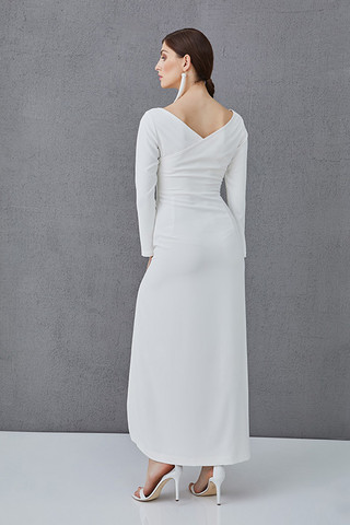 CHARLOTTE - long dress with long sleeves