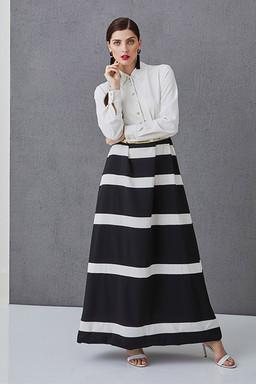 LUCIE - Pruhované šaty