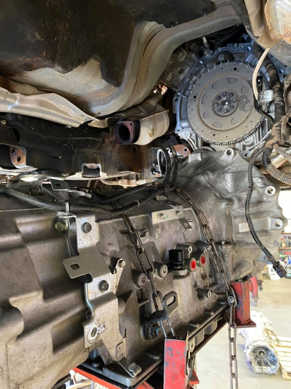 Transmission replacement for a Y62 Patrol