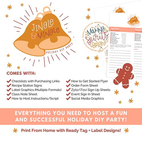 Jingle and Mingle Holiday DIY Party Bundle