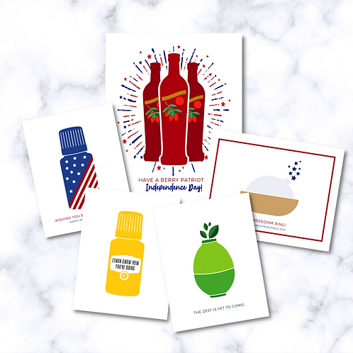 July 2021 Happy Mail Essential Oil Cards