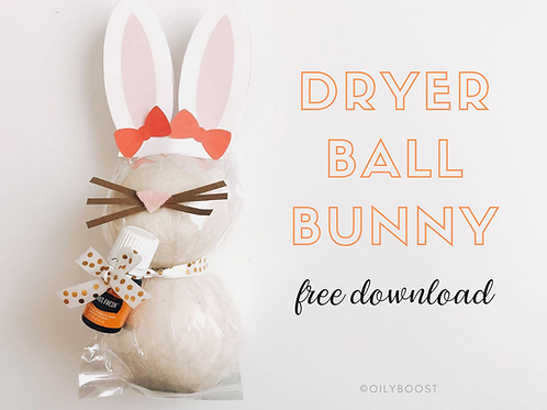 Dryer Ball Bunny Printables (use code 'freebunny' for free download)