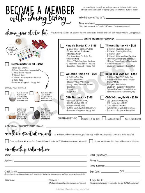 2021 Updated Cheat Sheet and Order Form