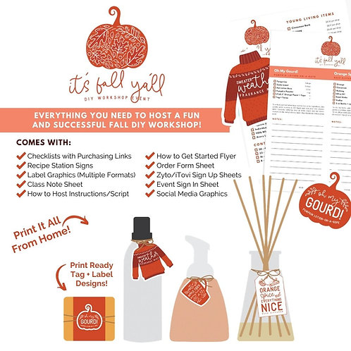 It's Fall Y'all DIY Workshop Bundle