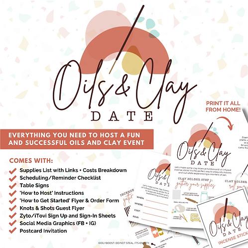 Oils + Clay Date Event Bundle