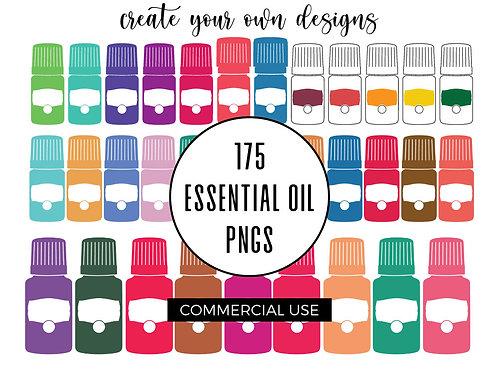 Essential Oil Bottle Artwork Bundle - Commercial Use