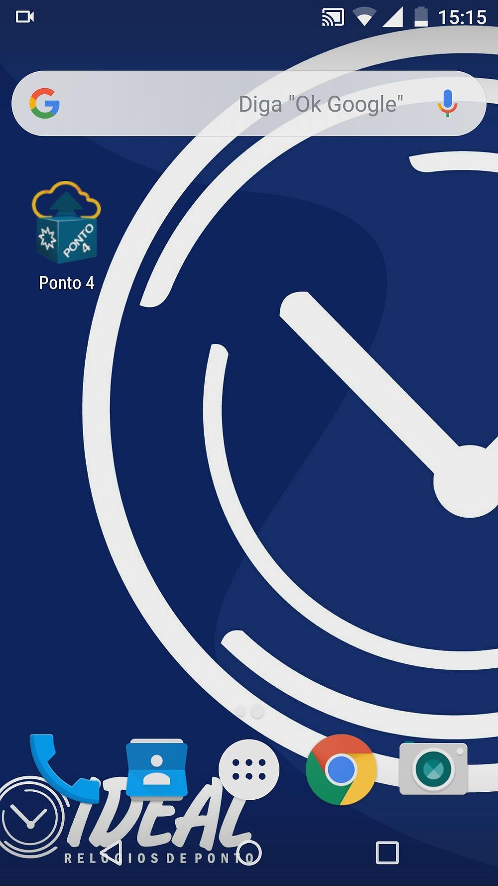 Imagem mostrando o ícone do app na tela inicial do dispositivo