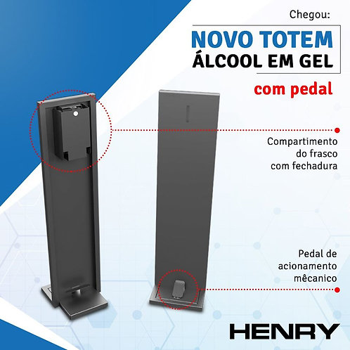 Totem Henry Dispenser de Álcool Gel c/ Pedal