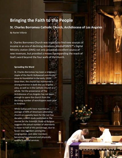 St Charles Borromeo Catholic Church Archdiocese of Los Angeles