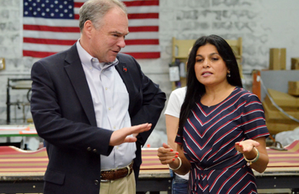AmeriFab International visited and recognized by vice presidential candidate, Tim Kaine