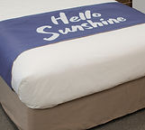 Reversible Bed Scarf Hello Sunshine Blue